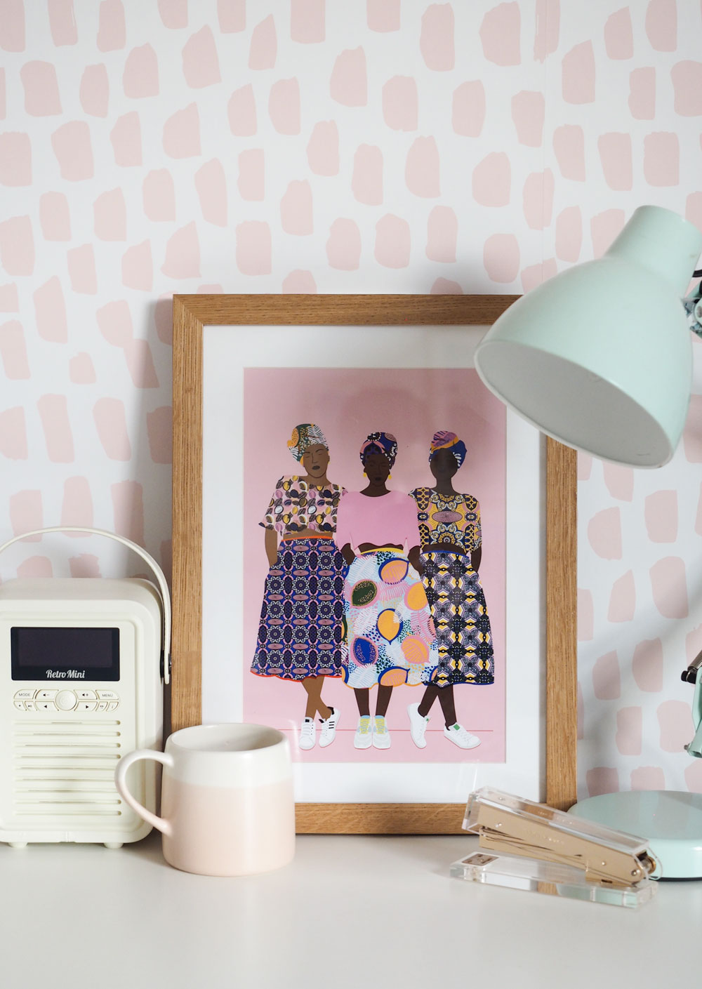 Colourful wall art ideas, prints and posters to decorate your rental apartment or first home.
