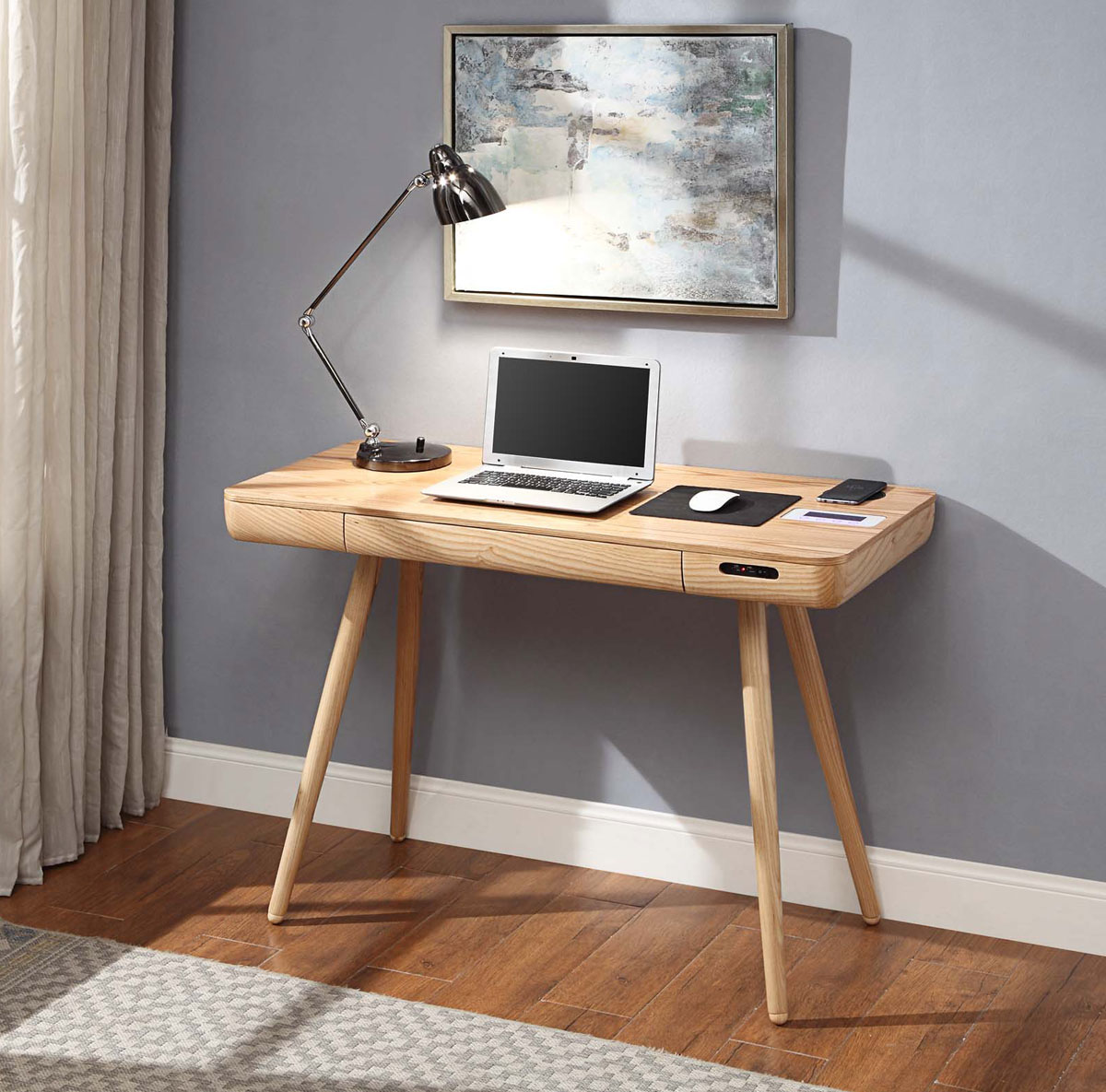 How to create a home office in a small apartment - Creating a small home office ...