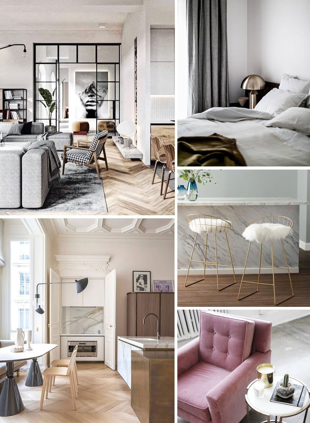 moodboard from affordable interior e-design service