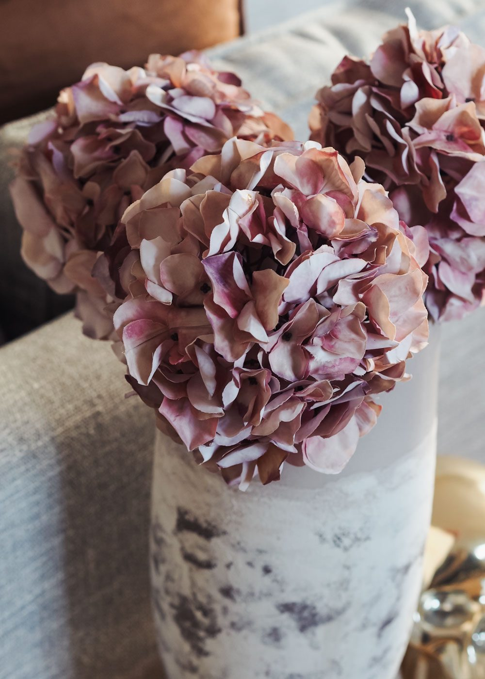 faux hydrangea stems from Cox & Cox Homeware