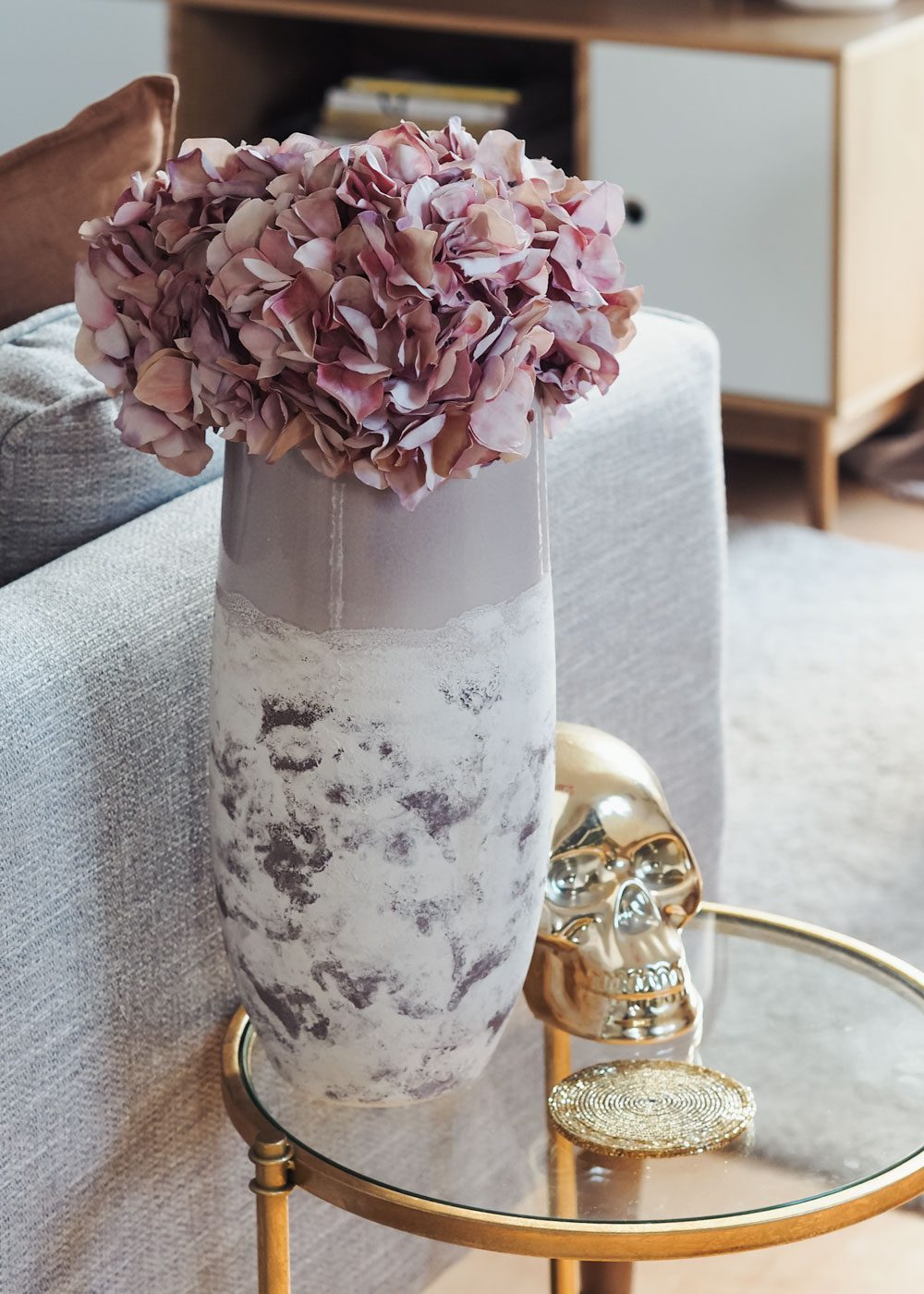 faux hydrangeas from Cox & Cox homeware