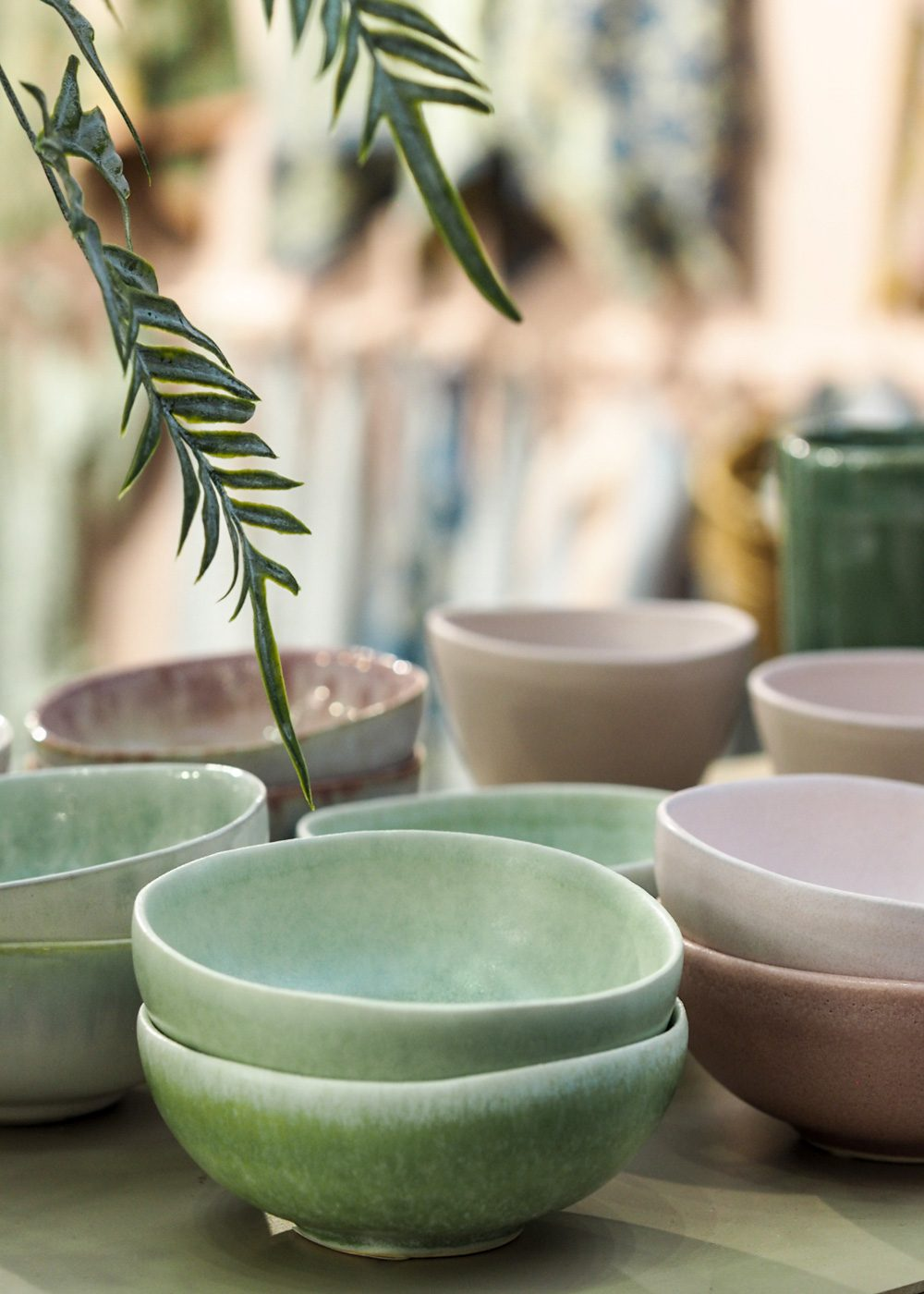 Green bowls from Bungalow Denmark