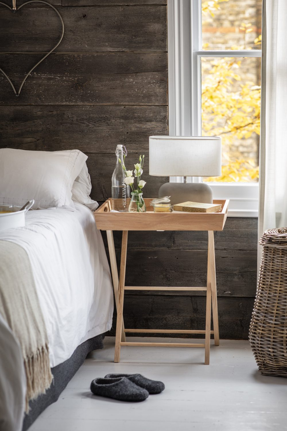 Garden Trading tray table in bedroom