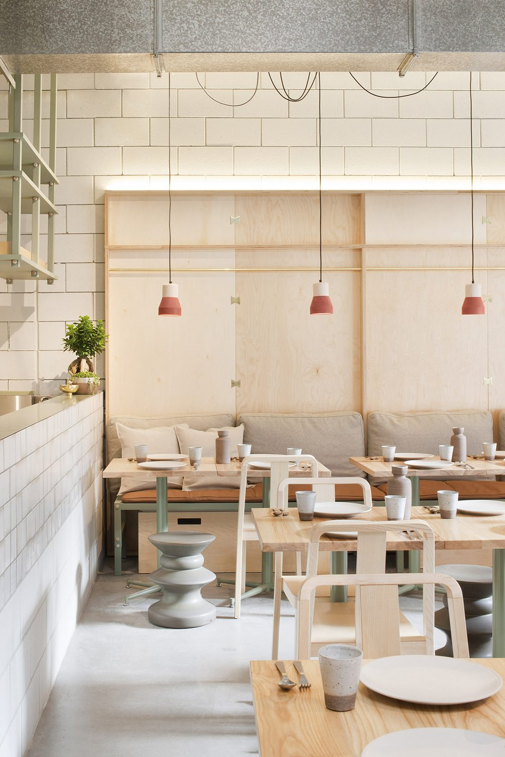 The interior design of Ruyi dumpling and wine bar in Melbourne