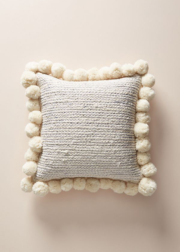 Jute cushion from Anthropologie