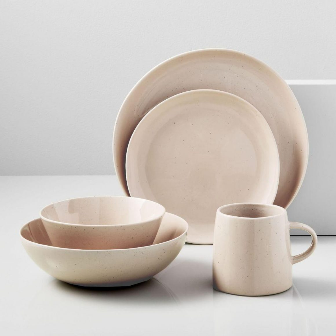 Pink dining set from West Elm
