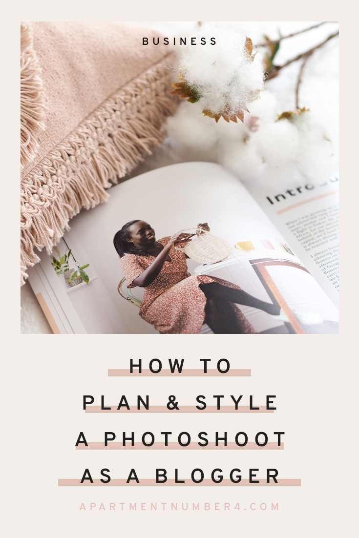 How to plan a photoshoot as a content creator, blogger or stylist