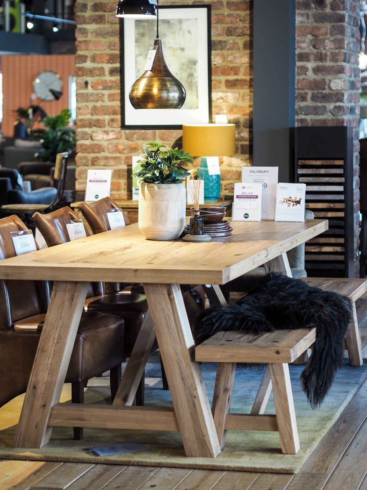 Scandinavian table setting from Barker and Stonehouse in Leeds
