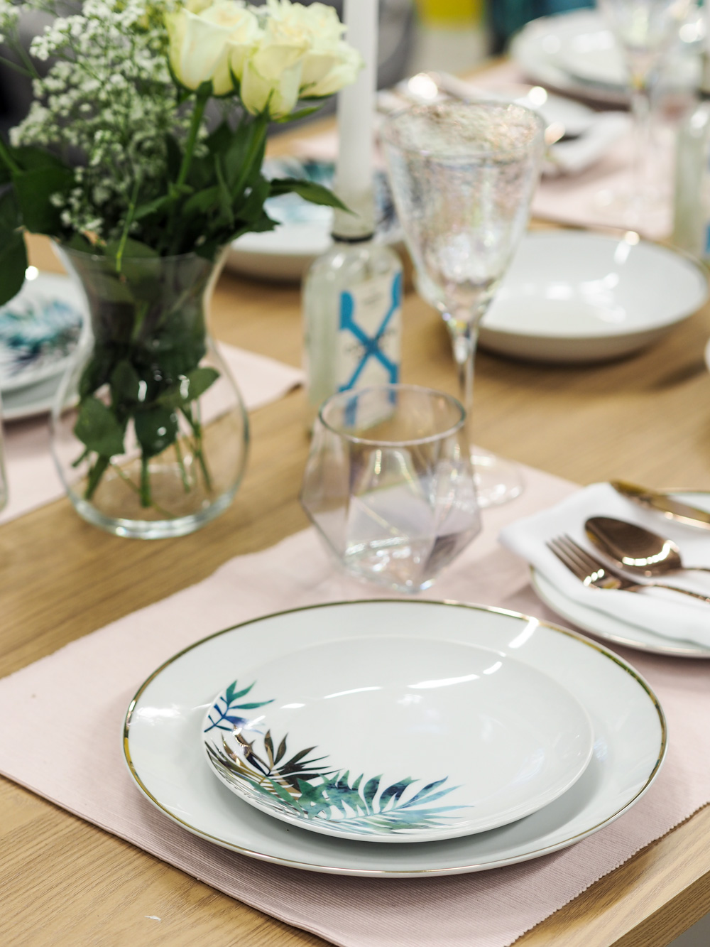 Dining room table setting from Studio.co.uk, the home of affordable interiors