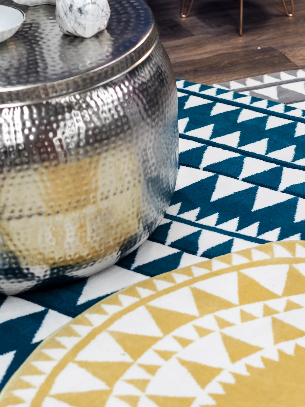 Geo printed rugs from Studio.co.uk, the home of affordable interiors