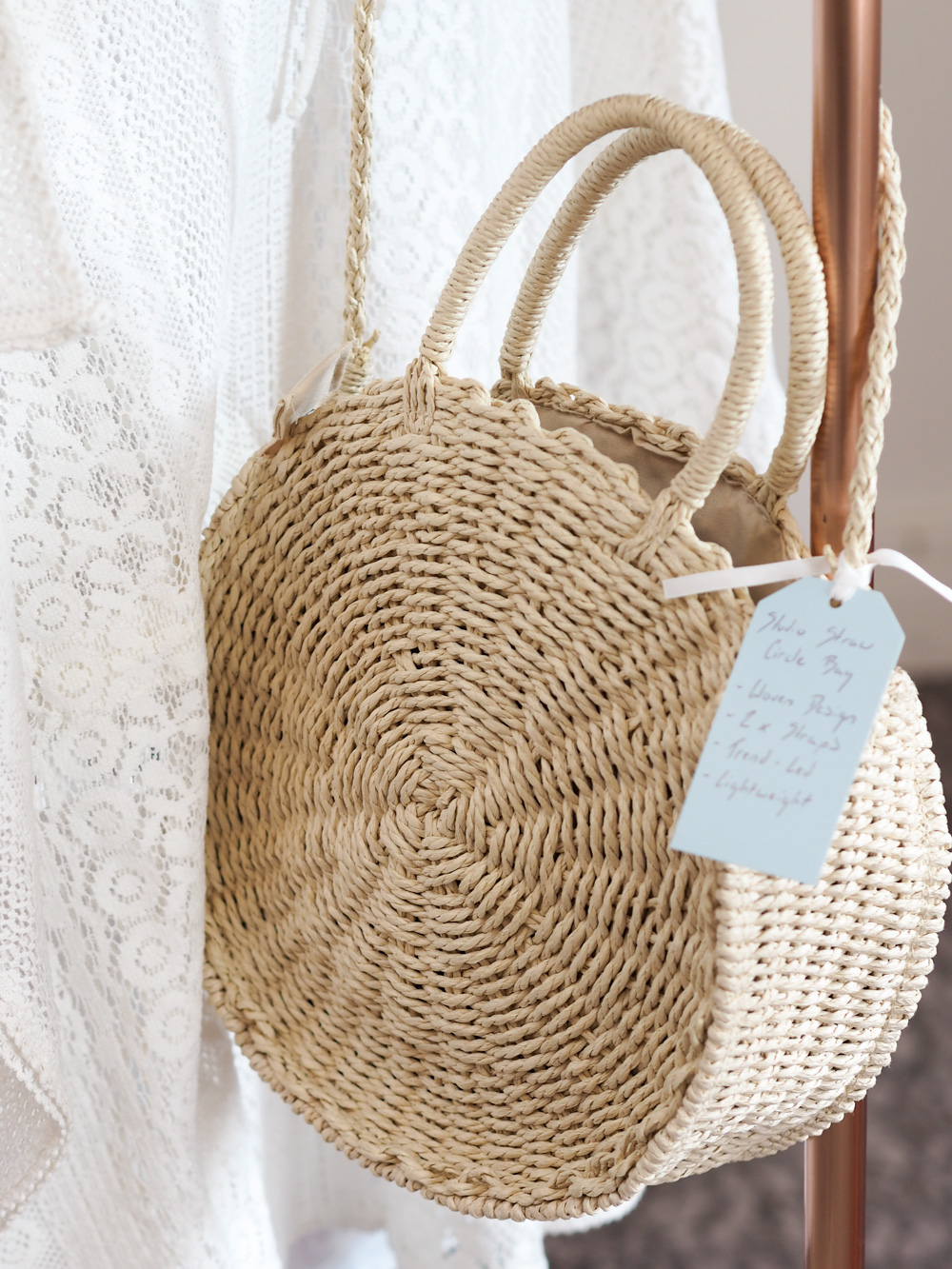 Woven basket bag from Studio.co.uk, the home of affordable interiors