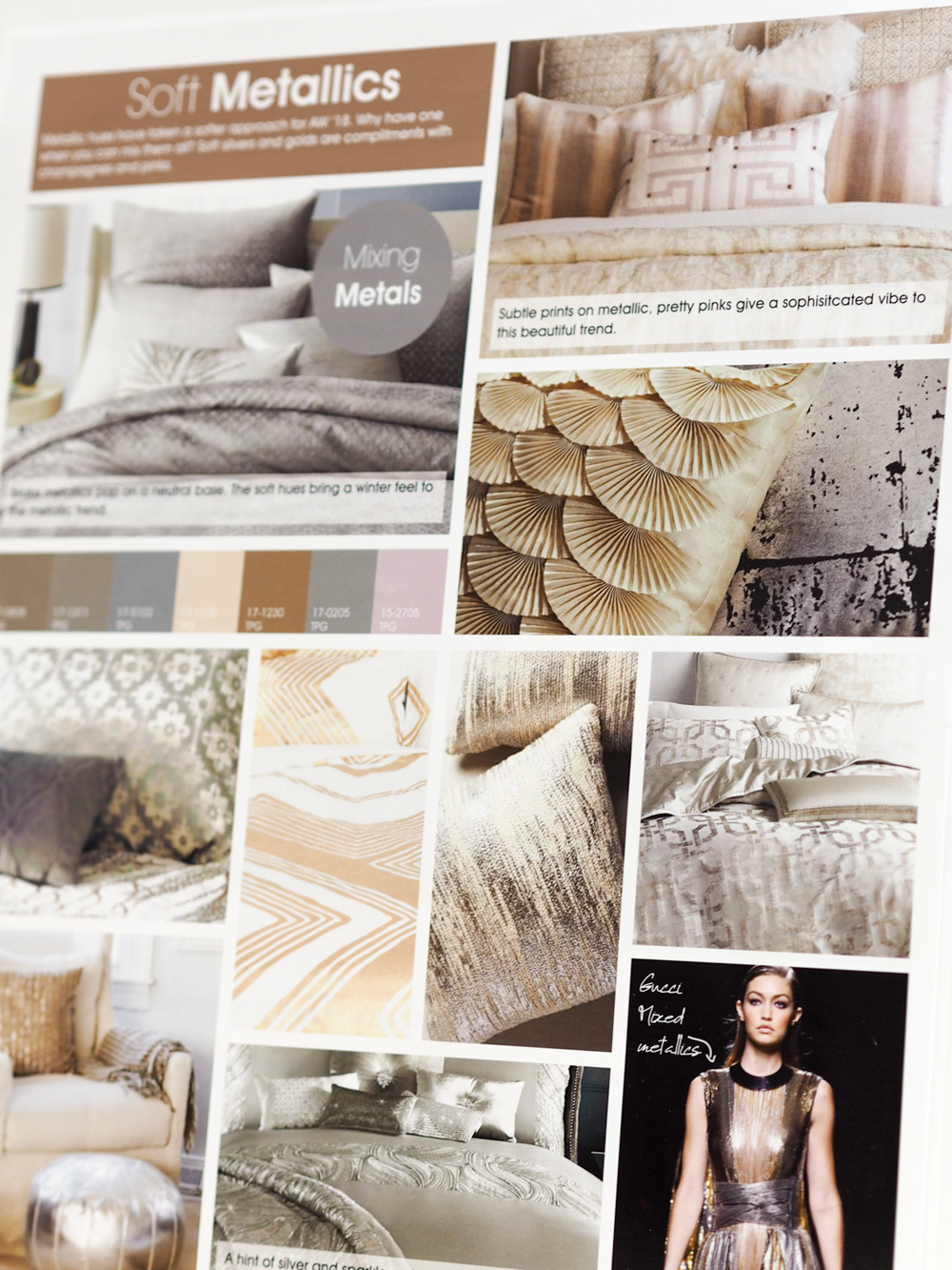Soft metallics trend report from Studio.co.uk
