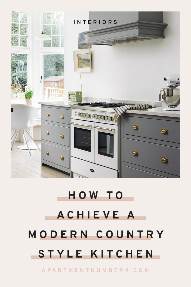 How to achieve a modern country style kitchen