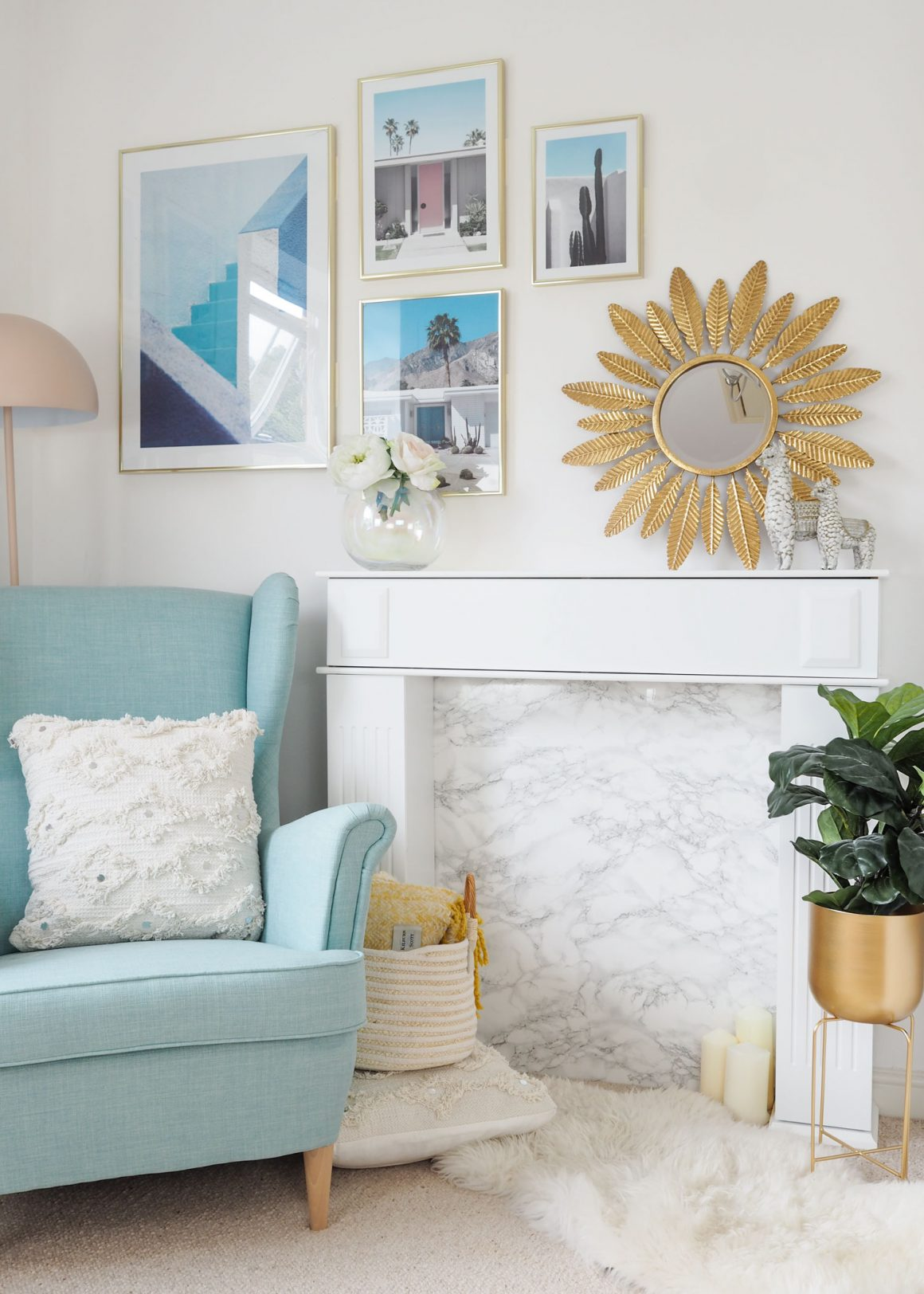 How to create and style a faux fireplace surround